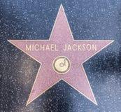 jackson michael s stjärna royaltyfri bild