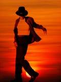jackson michael solnedgång Royaltyfri Bild