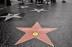 jackson michael stjärna Fotografering för Bildbyråer
