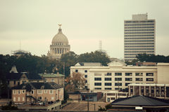 Jackson, Mississippi - panorama do vintage Fotografia de Stock Royalty Free