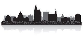 Jackson Mississippi city skyline silhouette. Jackson Mississippi USA city skyline silhouette Background vector illustration Stock Photo