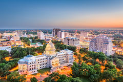Jackson, Mississippi, USA. Cityscape at dusk stock photography