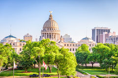 Jackson, Mississippi, USA. Downtown cityscape at the capitol stock images
