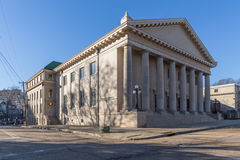 Jackson, MS/USA - circa February 2016: Old Classical Building in Downtown Jackson,  Mississippi Royalty Free Stock Image