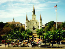 jackson New Orleans fyrkant Arkivbild