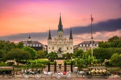 Jackson New Orleans quadrata Immagini Stock Libere da Diritti