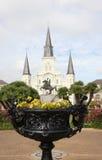 Jackson-Quadrat in New Orleans lizenzfreie stockbilder