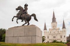 Jackson quadratisches New Orleans stockbilder