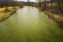 Jackson River in Hooglandprovincie, Virginia, de V.S. stock afbeelding