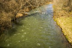 Jackson River i Highland County, Virginia, USA arkivbild