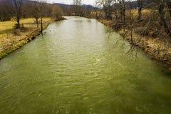Jackson River nella contea di Highland, la Virginia, U.S.A. immagine stock