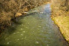 Jackson River no Condado de Highland, Virgínia, EUA fotografia de stock