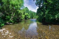 Jackson River, Virginia, de V.S. royalty-vrije stock afbeeldingen