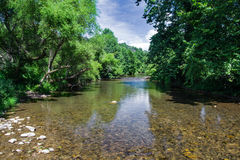 Jackson River Virginia, USA royaltyfria bilder