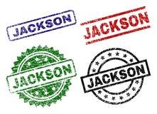 JACKSON Seal Stamps texturisé endommagé Illustration Stock