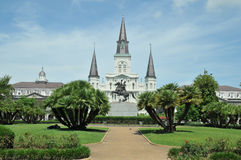 Jackson Square. In New Orleans, Louisiana, on a spring day royalty free stock image