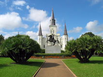 Jackson Square. Pre-Katrina royalty free stock images