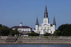 Jackson Square - fransk fjärdedel av New Orleans, Louisiana Fotografering för Bildbyråer