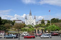 Jackson Square in the French Quarter Royalty Free Stock Photo
