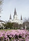Jackson Square i den franska fjärdedelen av New Orleans royaltyfri bild