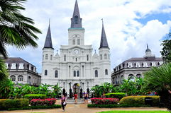 Jackson Square in New Orleans, La Royalty-vrije Stock Foto's
