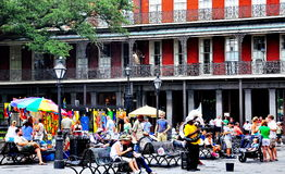 Jackson Square in New Orleans, LA Royalty Free Stock Photo