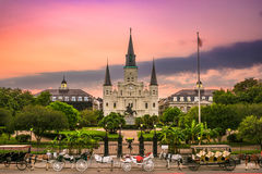 Jackson Square New Orleans. New Orleans, Louisiana at Jackson Square Royalty Free Stock Images
