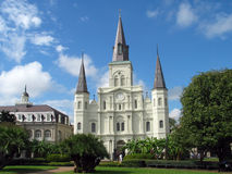 Jackson Square Pre-Katrina. A beautiful view of Jackson Square, New Orleans stock photo