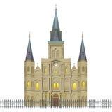 Jackson Square St Louis Cathedral New Orleans Stockbilder