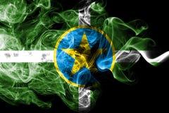 Jackson-Stadtrauchflagge, Staat Mississippi, die Vereinigten Staaten von Amerika lizenzfreie abbildung