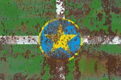 Jackson-Stadtrauchflagge, Staat Mississippi, Vereinigte Staaten von Ame stockfotografie