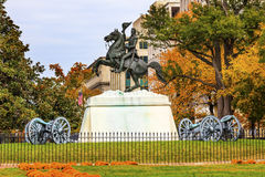 Jackson Statue Canons Lafayette Park Autumn Washington DC Stock Photography