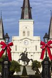 Andrew Jackson Statue and St. Louis Cathedral Stock Image