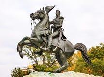 Jackson Statue Lafayette Park Autumn-Washington DC Lizenzfreie Stockbilder