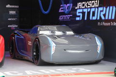 Jackson Storm. Disney Pixar antagonistic car in Cars 3 Royalty Free Stock Image