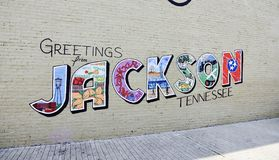 Jackson, Tennessee Greetings Photo stock