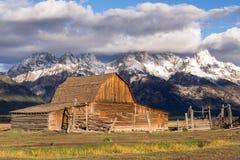 JACKSON, WYOMING/USA - 30 SEPTEMBER: Mening van Mormoonse Rij dichtbij Ja Royalty-vrije Stock Afbeelding