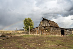 JACKSON, WYOMING/USA - 30 SEPTEMBER: Mening van Mormoonse Rij dichtbij Ja Royalty-vrije Stock Foto's