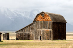 JACKSON, WYOMING/USA - 30 SEPTEMBER: Mening van Mormoonse Rij dichtbij Ja Royalty-vrije Stock Afbeeldingen