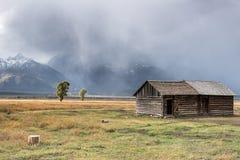 JACKSON, WYOMING/USA - 30 SEPTEMBER: Mening van Mormoonse Rij dichtbij Ja Stock Afbeelding