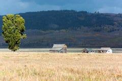 JACKSON, WYOMING/USA - 30 SEPTEMBER: Mening van Mormoonse Rij dichtbij Ja Stock Afbeeldingen