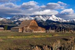 JACKSON, WYOMING/USA - 30 SEPTEMBER: Mening van Mormoonse Rij dichtbij Ja Royalty-vrije Stock Fotografie