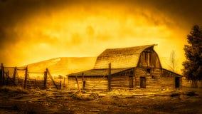 JACKSON, WYOMING/USA - 30 SEPTEMBER: Mening van Mormoonse Rij dichtbij Ja Stock Foto