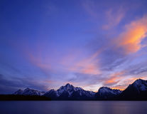 JacksonLake&Tetons Photos stock