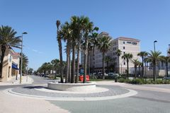 City of jacksonville beach in florida. Jacksonville Beach is a coastal resort city in Duval County, Florida, United States royalty free stock image