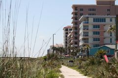 City of jacksonville beach in florida. Jacksonville Beach is a coastal resort city in Duval County, Florida, United States stock image