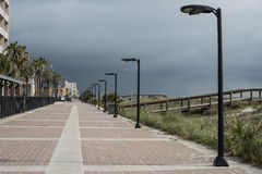 Jacksonville Beach main street royalty free stock photo