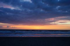 Jacksonville beach sun rise. A beach sun rise  taken in Jacksonville, florida Royalty Free Stock Photo