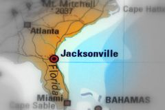 Jacksonville, Florida - United States. Jacksonville, city in the U.S. state of Florida black and white selective focus Stock Photography