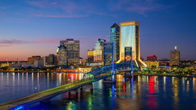 Jacksonville Cityscape stock video